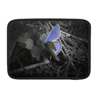 blue butterfly macbook sleeve