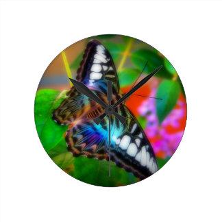 Blue Butterfly Macro Photo Clock