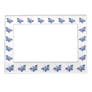 Blue Butterfly Magnetic Picture Frame