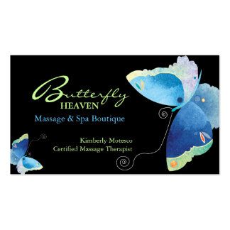 Blue Butterfly Massage Therapy Appointment Cards Business Card