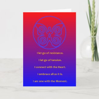 BLUE BUTTERFLY - MASTERY OF THE MOMENT - CARD
