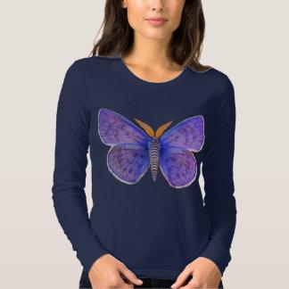 Blue Butterfly Moth T Shirt