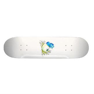 blue butterfly on white egg.png custom skateboard