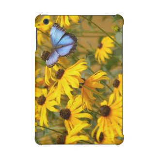 Blue Butterfly on Yellow Flowers iPad Mini Retina Case