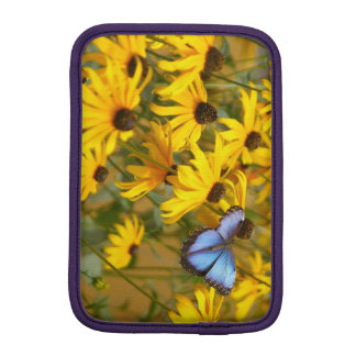 Blue Butterfly on Yellow Flowers Sleeve For iPad Mini