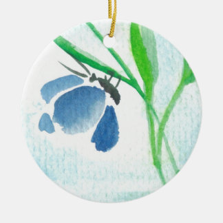 Blue Butterfly Ornament
