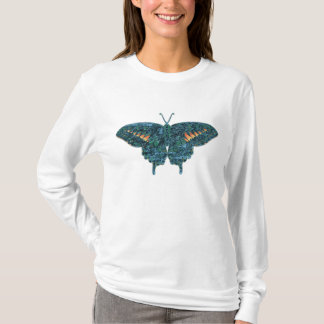 Blue Butterfly Painting Art Monet T-Shirt