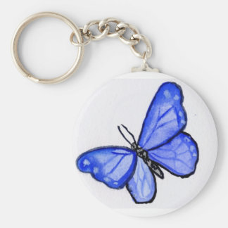 Blue Butterfly Pendant Keychains