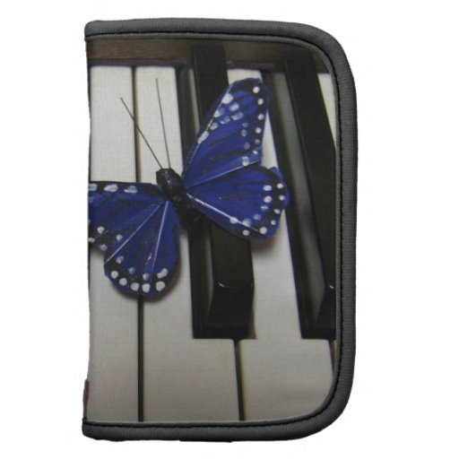 Blue Butterfly & Piano Folio Planner