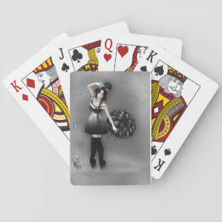 Blue Butterfly Playing Cards