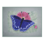 BLUE BUTTERFLY POST CARD
