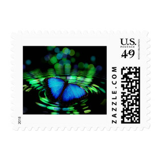 Blue Butterfly Postage Stamp