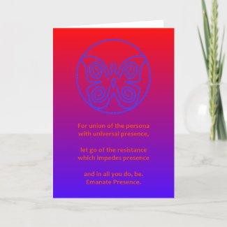 BLUE BUTTERFLY - PRESENCE 001 CARD
