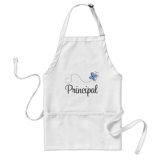 Blue Butterfly Principal Gift Adult Apron