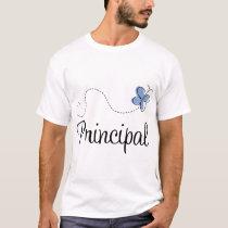 Blue Butterfly Principal Gift T-Shirt