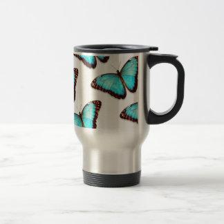 Blue Butterfly Print Coffee Cup Coffee Mug