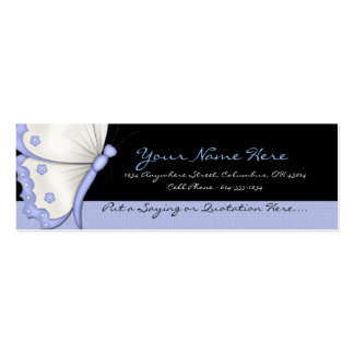 Blue Butterfly Profile Cards Double-Sided Mini Business Cards (Pack Of 20)