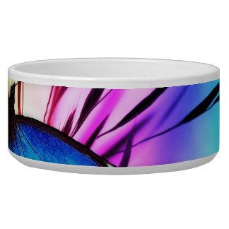 Blue Butterfly Rainbow Pet Water Bowls