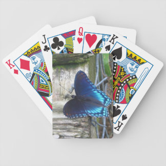 Blue Butterfly Resting Playing Cards