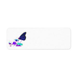 Blue Butterfly Return Address Labels