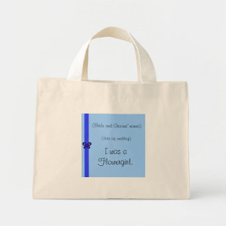 Blue Butterfly Ribbon Flowergirl Bag