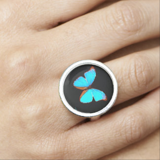 """""""Blue Butterfly"""" Ring"""