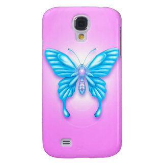 Blue Butterfly Samsung Galaxy S4 Case