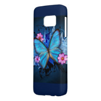 Blue Butterfly Samsung Galaxy S7 Case