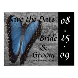 Blue Butterfly Save the Date Postcards