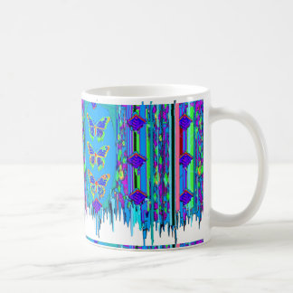 Blue Butterfly Shawl Gifts by Sgarles Mugs
