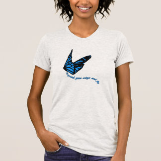 Blue Butterfly | Spread Your Wings And Fly | T-Shirt