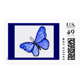 Blue Butterfly Stamp
