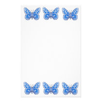 Blue Butterfly Stationery