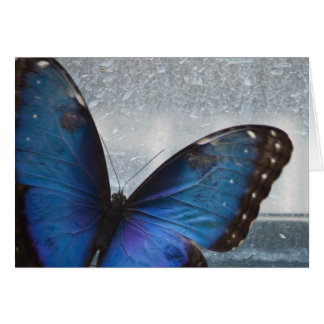 Blue Butterfly Stationery Note Card