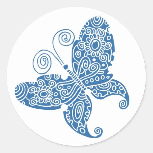 Blue Butterfly Sticker