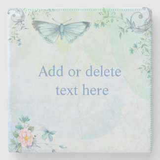 Blue Butterfly Stone Coaster