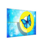 Blue Butterfly Stretched Canvas Print