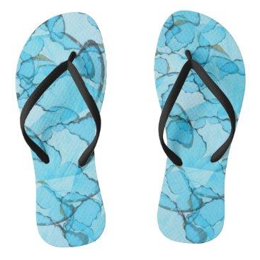 Beach Themed Blue Butterfly Summer Flip-Flops Flip Flops
