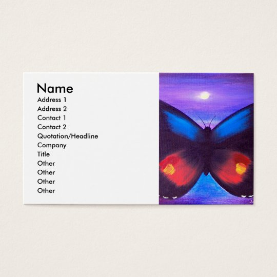 Blue Butterfly Sunset Painting - Multi Business Card