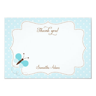 Blue Butterfly Thank You Card