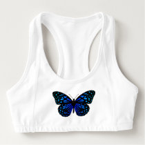 blue butterfly Thunder_Cove Sports Bra