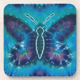 Blue Butterfly Tie Dye Coaster