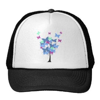 Blue Butterfly Tree Trucker Hat