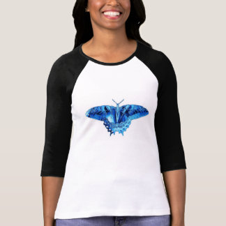 Blue butterfly two-tone tee