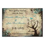 Blue Butterfly Vintage Save the Date Card Personalized Invitations