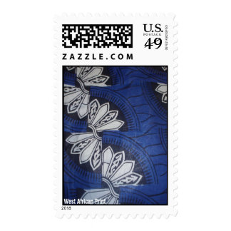 Blue butterfly West African Print stamp
