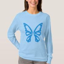 Blue Butterfly Women's Basic Long Sleeve T-Shirt