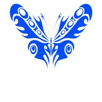 Blue Butterfly Womens Hoodie shirt