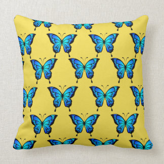 Blue Butterflys by storeman. Throw Pillow
