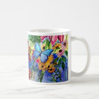 Blue Butterfly's Garden Coffee Mug